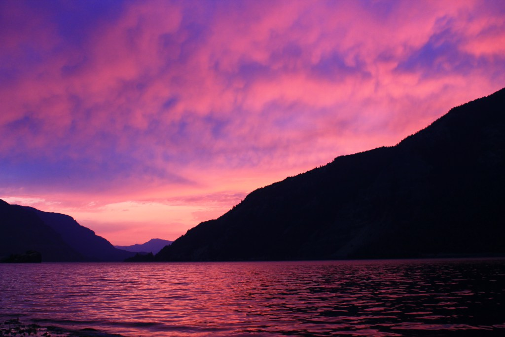 Sunsets on the Columbia River Gorge