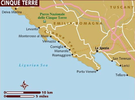Map of Cinque Terre Towns, How to Hike the Cinque Terre_ What you need to know before visiting