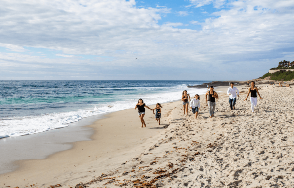 Family photo shoot at Windansea with our friend Elle at