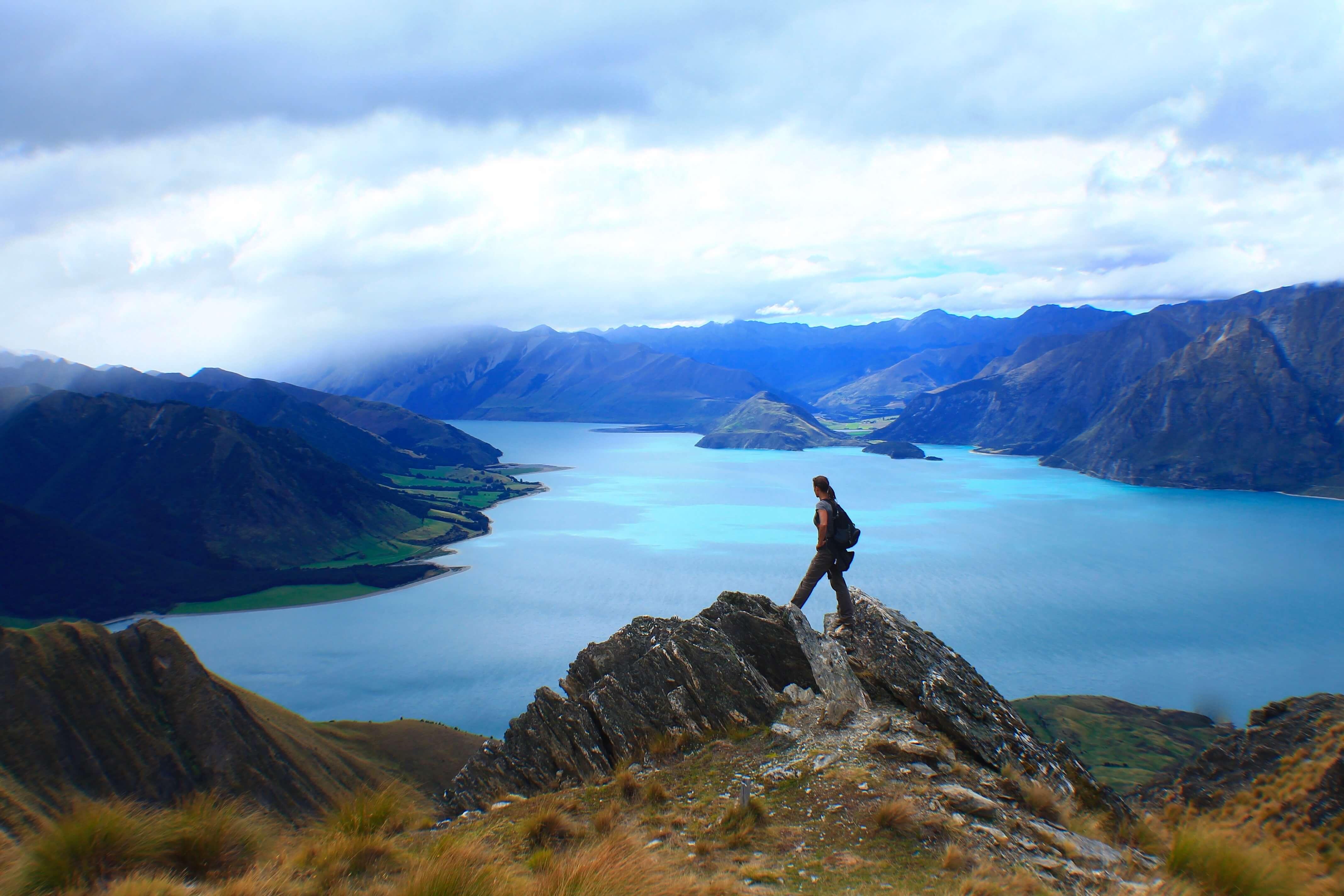 Hiking Isthmus Peak, 3 week New Zealand Road Trip Itinerary
