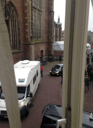 driving the RV into the center of Haarlem, 50 things to know when planning your 1st trip to Europe