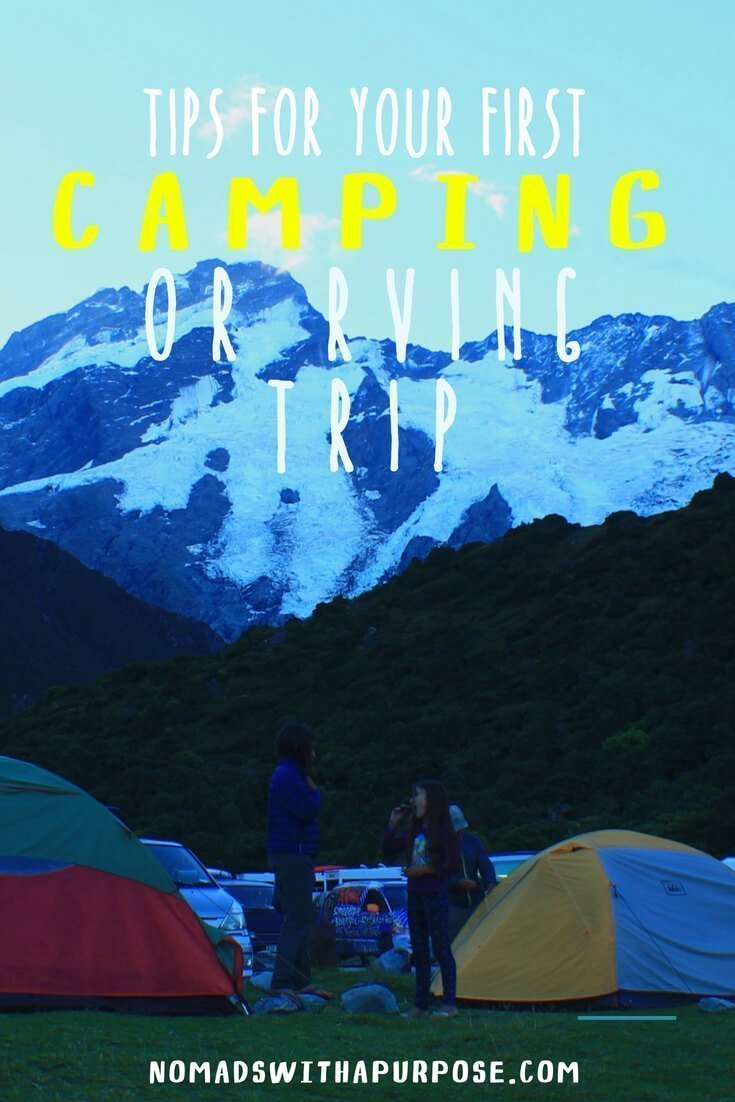 tips for your first camping or rving trip