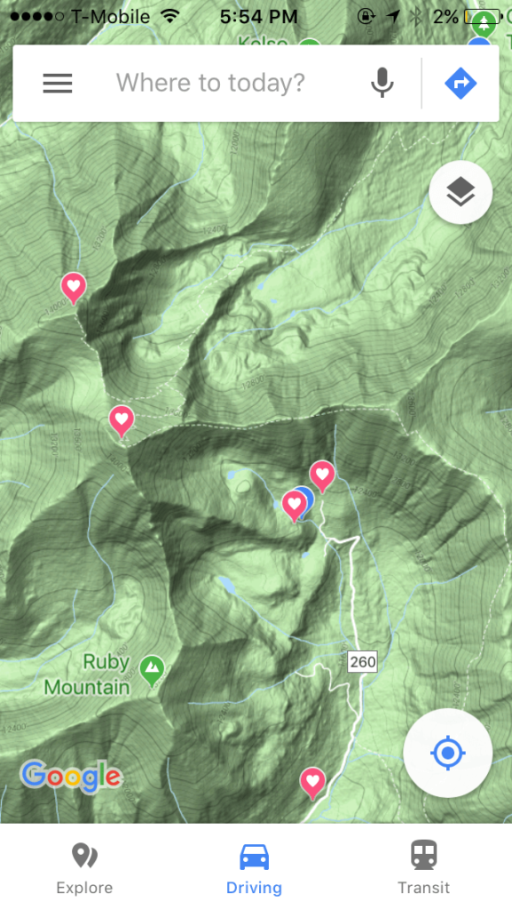how to use your smartphone as a gps on the trail: Using Google Maps While Hiking