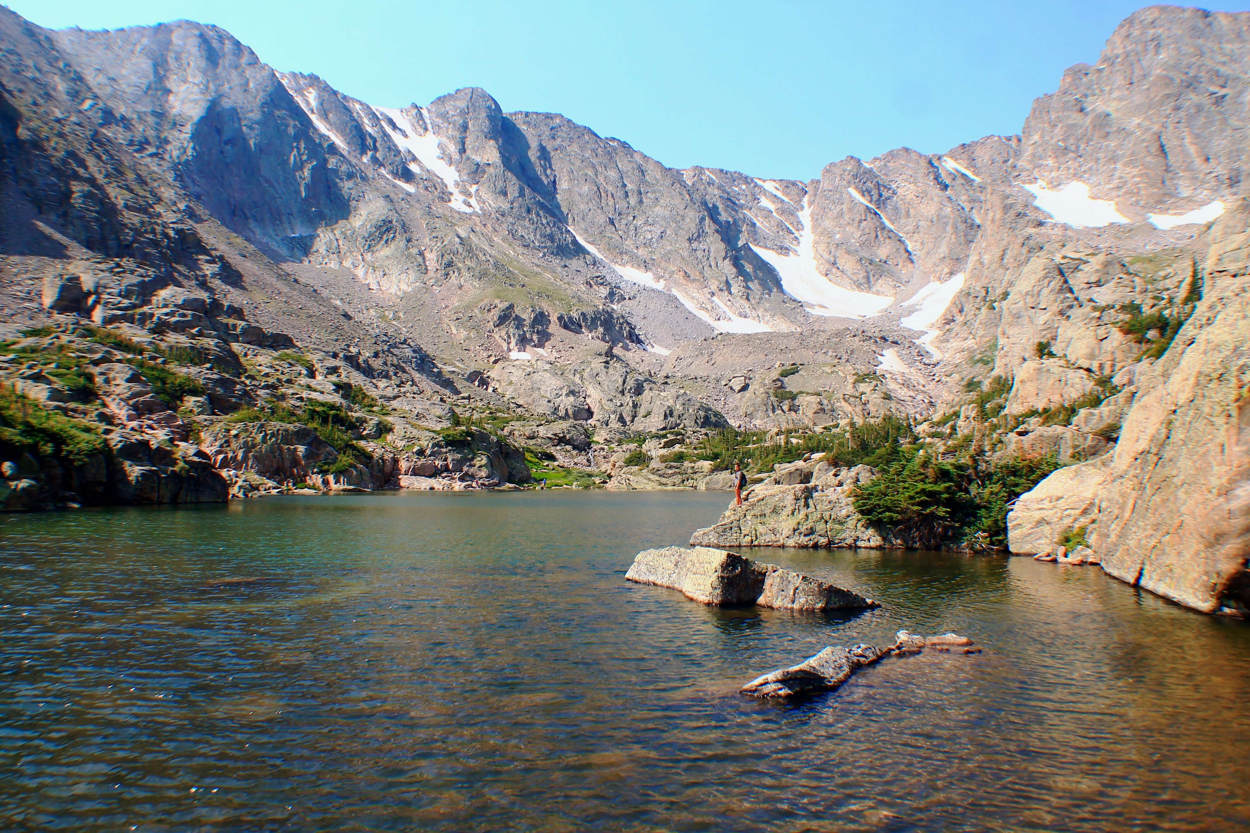 Lake of Glass, Best Day Hikes from Bear Lake in Rocky Mountain National Park + Camping Tips