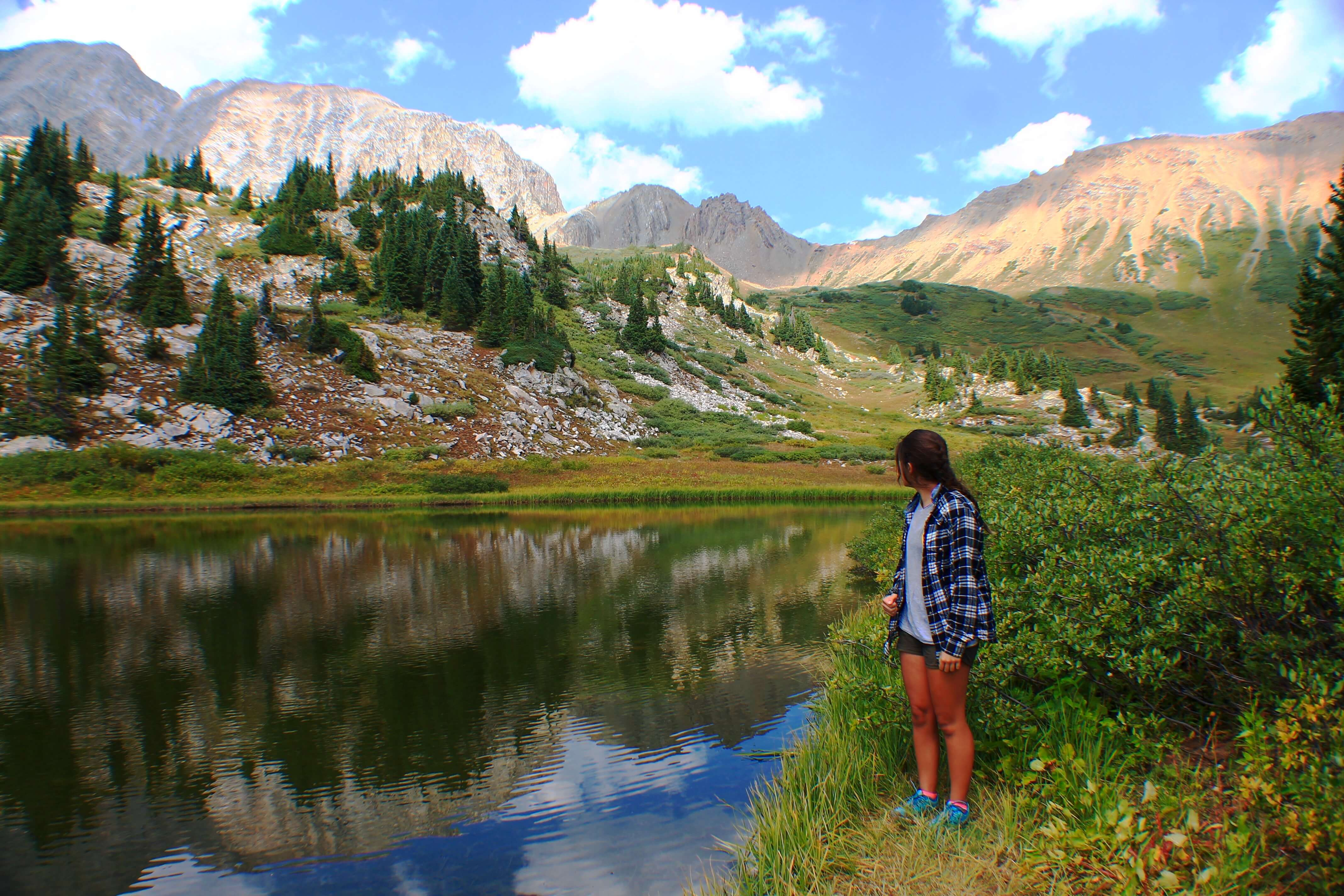 Little lake in Lead King Basin, Backpacking the Maroon Bells Four Pass Loop