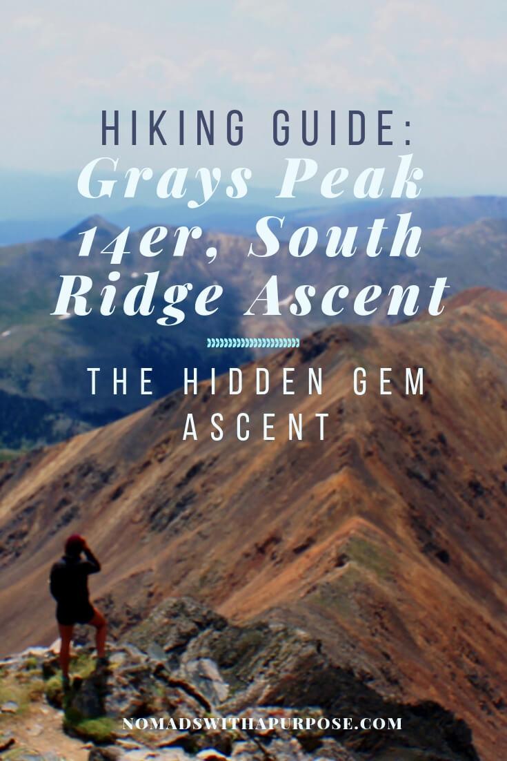 Hiking 14er Grays Peak, South Ridge: The Less Crowded Ascent