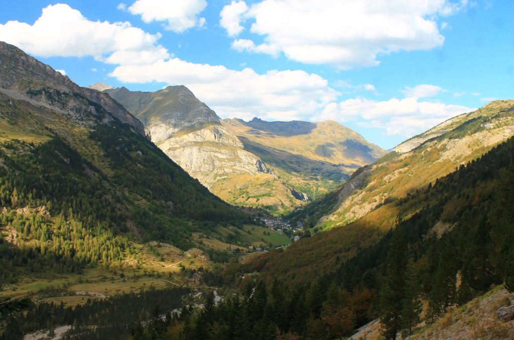 views from ridge, Hiking Cirque de Gavarnie in the French Pyrenees