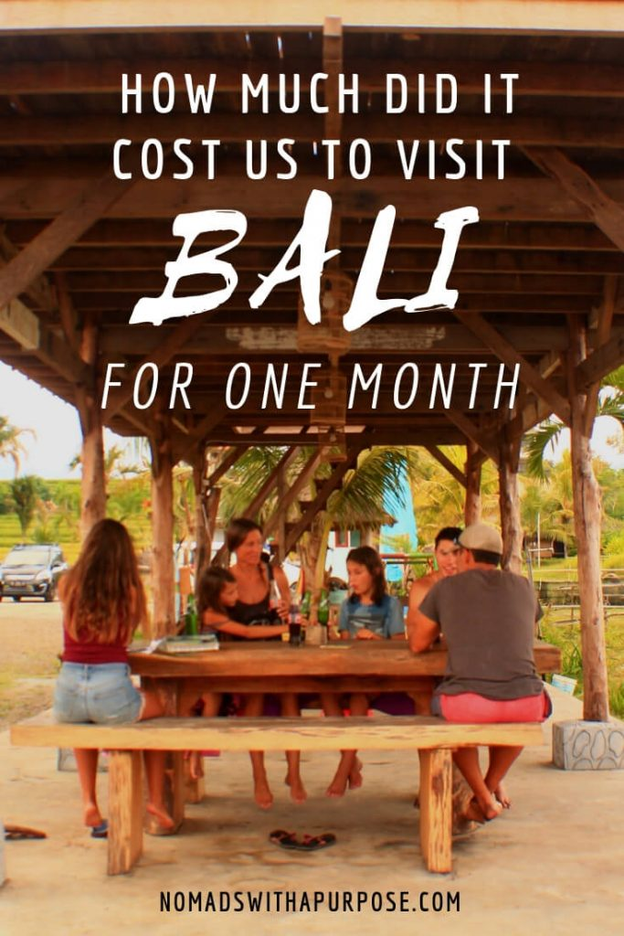how much does it cost to travel to Bali for 1 month Pin